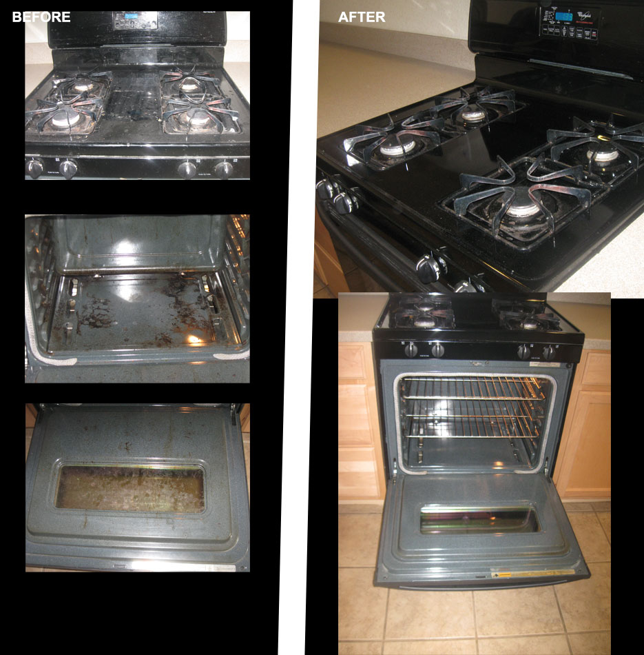 kitchen stove cleanup